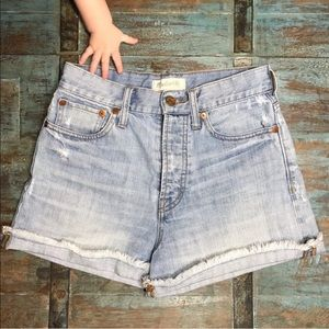 Madewell Super High Rise Jean Shorts w Button Fly